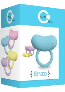 Cute Enzo Silicone Couples Ring Waterproof Blue