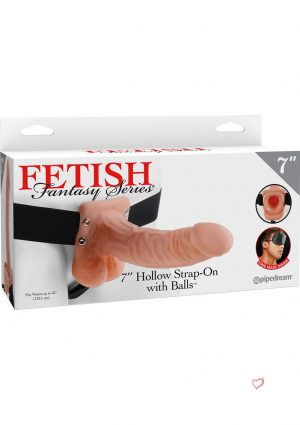 Fetish Fantasy 7 Inch Hollow Strap On With Balls Flesh