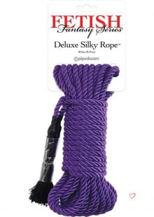 Festish Fantasy Deluxe Silk Rope Purple 32 Feet