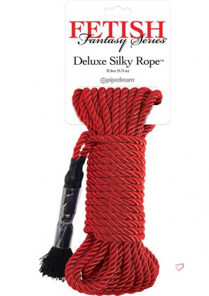 Festish Fantasy Deluxe Silk Rope Red 32 Feet