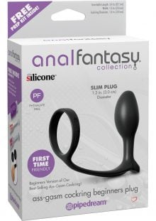 Anal Fantasy Collection Ass Gasm Cock Ring Beginner Plug