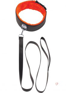 Orange Is The New Black Short Leash With Furry Collar