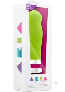 Aria Lucent Silicone Vibrator Waterproof Green