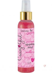 Crazy Girl Wanna Be Glam Glitzy Body Sparkle Mist Berry Wild 4 Ounce Spray