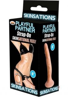 Skinsations Playful Partner Strap On Flesh 6 Inch