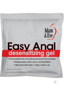 Adam and Eve Easy Anal Desensitizing Gel Foil Pack 2.5 Milliliters