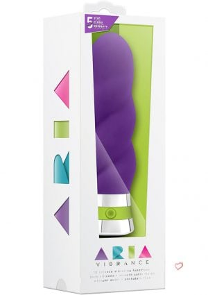 Aria Vibrance Silicone Vibe Waterproof Purple