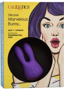 Mini Marvels Marvelous Bunny Silicone Rechargeable Massager Waterproof Purple 3.75 Inch