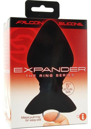 Falcon The Ring Series Expander Silicone Anal Plug Black 5 Inch