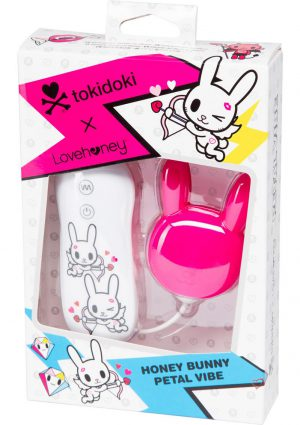 Tokidoki Honey Bunny Petal Vibe Wired Remote Silicone Clitoral Vibe Waterproof Pink