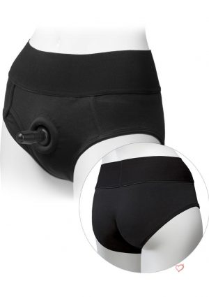 Platinum Edition Vac U Lock Ultra Harness With Plug Briefs Black Large/X-Large 33 To 45 Inch Hips