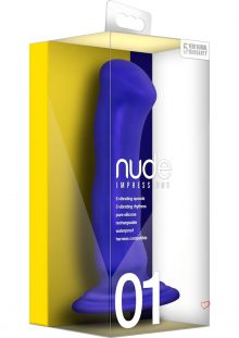 Nude Impressions 01 Silicone Rechargeable Vibrating Dong Waterproof Purple