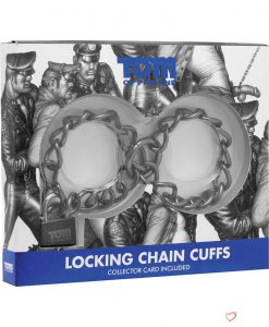 Tom Of Findland Locking Chain Cuffs Metal