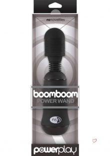 Power Play Boomboom Power Wand Massager Black