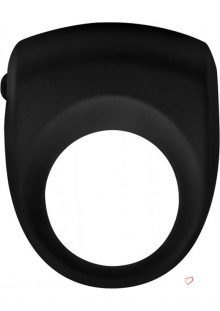 Trinity Vibes Premium Silicone Vibrating Cock Ring Black