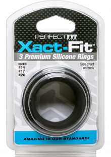 Perfect Fit Xact-Fit Premium Silicone Ring Set Assorted Sizes 3 Rings Per Set