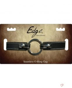 Edge Seamless O-Ring Metal Mouth Gag With Adjustable Leather Strap