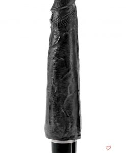 King Cock Vibrating Stiffy Realistic Dildo Waterproof Black 9 Inch