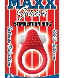 Maxx Gear Stimulation Ring Silicone Waterproof Red
