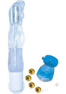 Lovers Kit 2 For Him And Her Vibrator Vibrating Cock Ring BenWa Balls Waterproof Blue Clear Gold