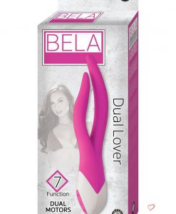 Bela Dual Lover 7X Dual Moters Vibrating Silicone Massager Waterproof Pink