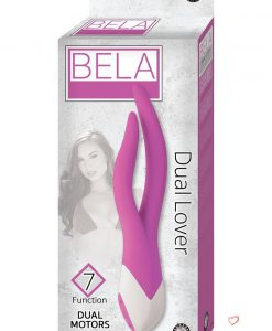 Bela Dual Lover 7X Dual Moters Vibrating Silicone Massager Waterproof Purple
