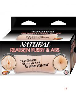Natural Realskin Pussy and Ass Double Sided Stroker Flesh