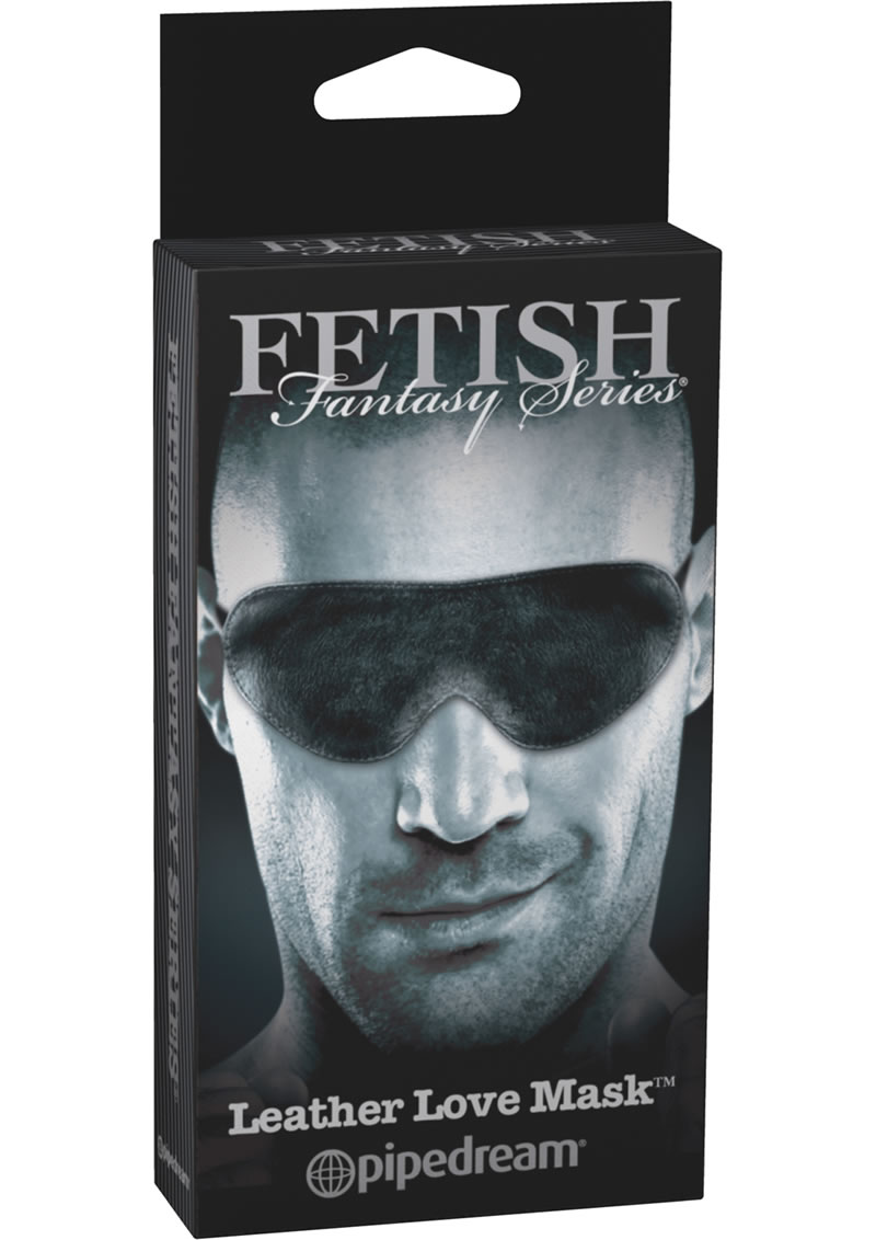 Fetish Fantasy Series Limited Edition Leather Love Mask Black