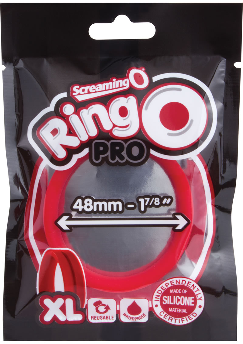 Ring O Pro Xtra Large Silicone Cockrings Waterproof Red 12 Each Per Box