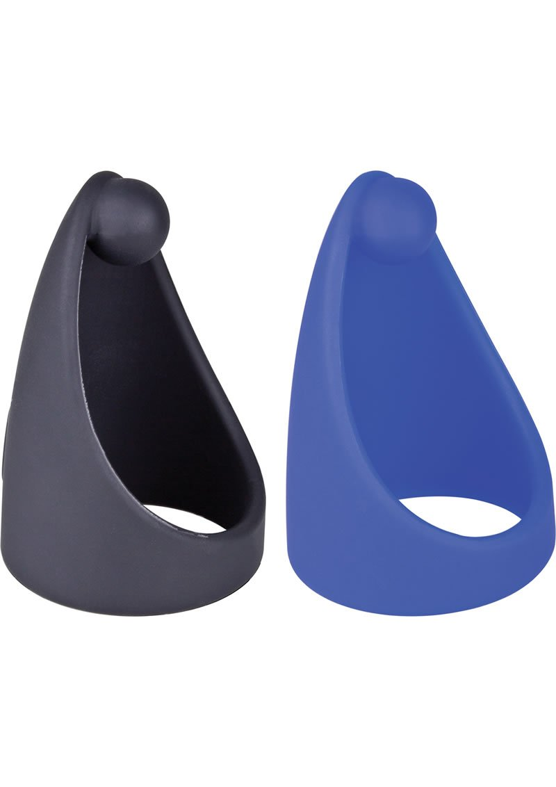 Sling O Silicone Ring With Contoured Sling Cockrings Waterproof Assorted Colors 6 Each Per Box