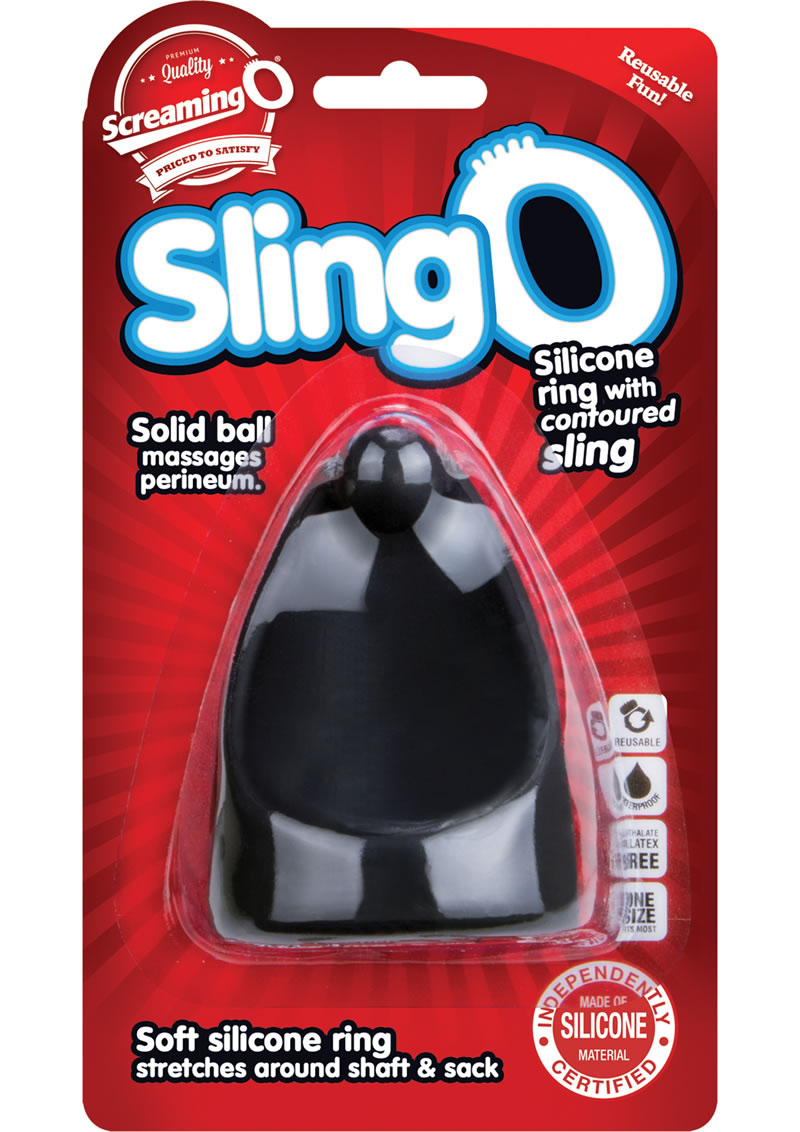 Sling O Silicone Ring With Contoured Sling Waterproof Black 6 Each Per Box