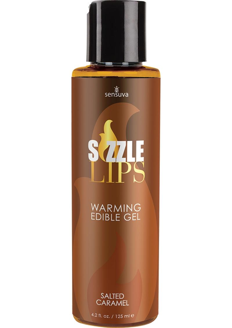 Sizzle Lips Warming Edible Gel Salted Caramel 4.2 Ounce