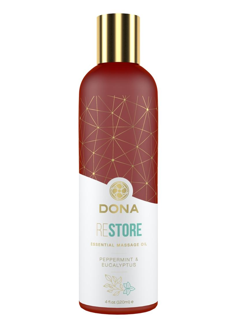 Dona Essential Massage Oil Restore Peppermint and Eucalyptus