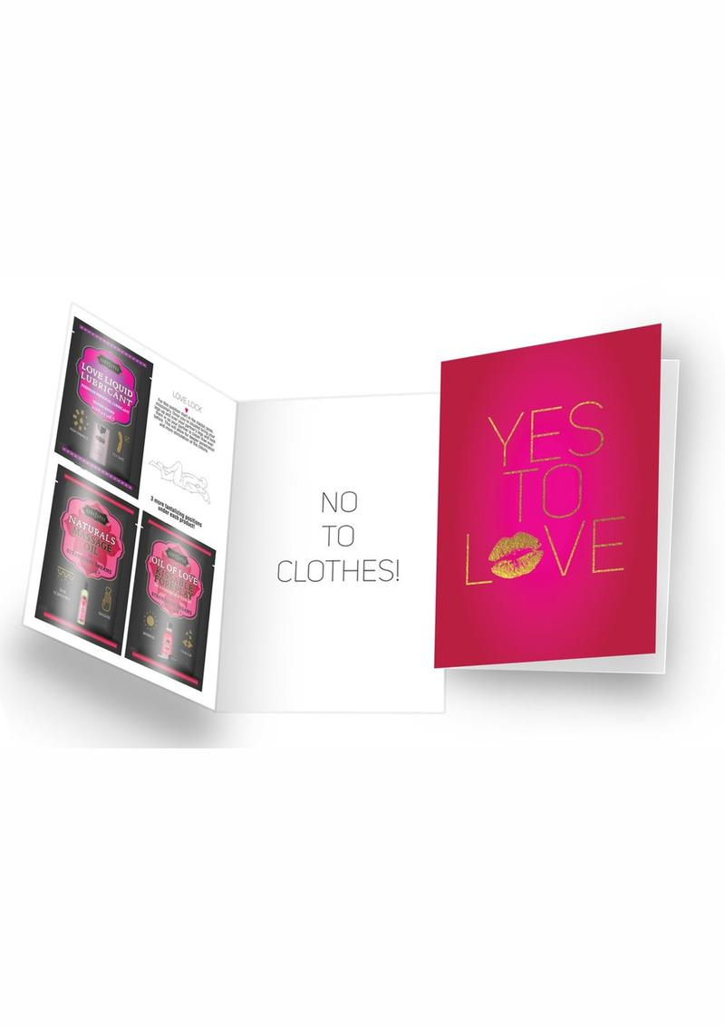 Naughty Notes Greeting Card Yes To Love With Lubricants