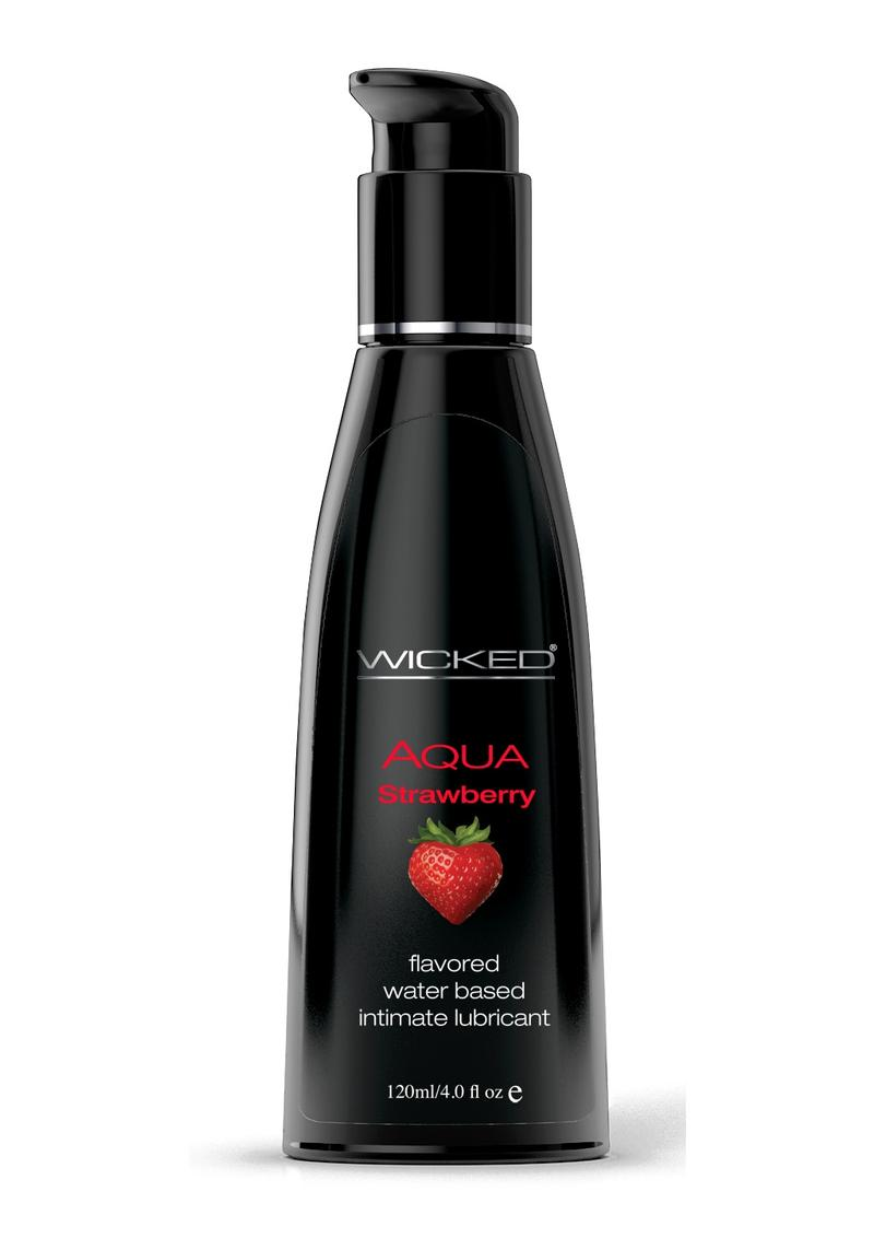 Wicked Aqua Strawberry Lube 4oz Water Based
