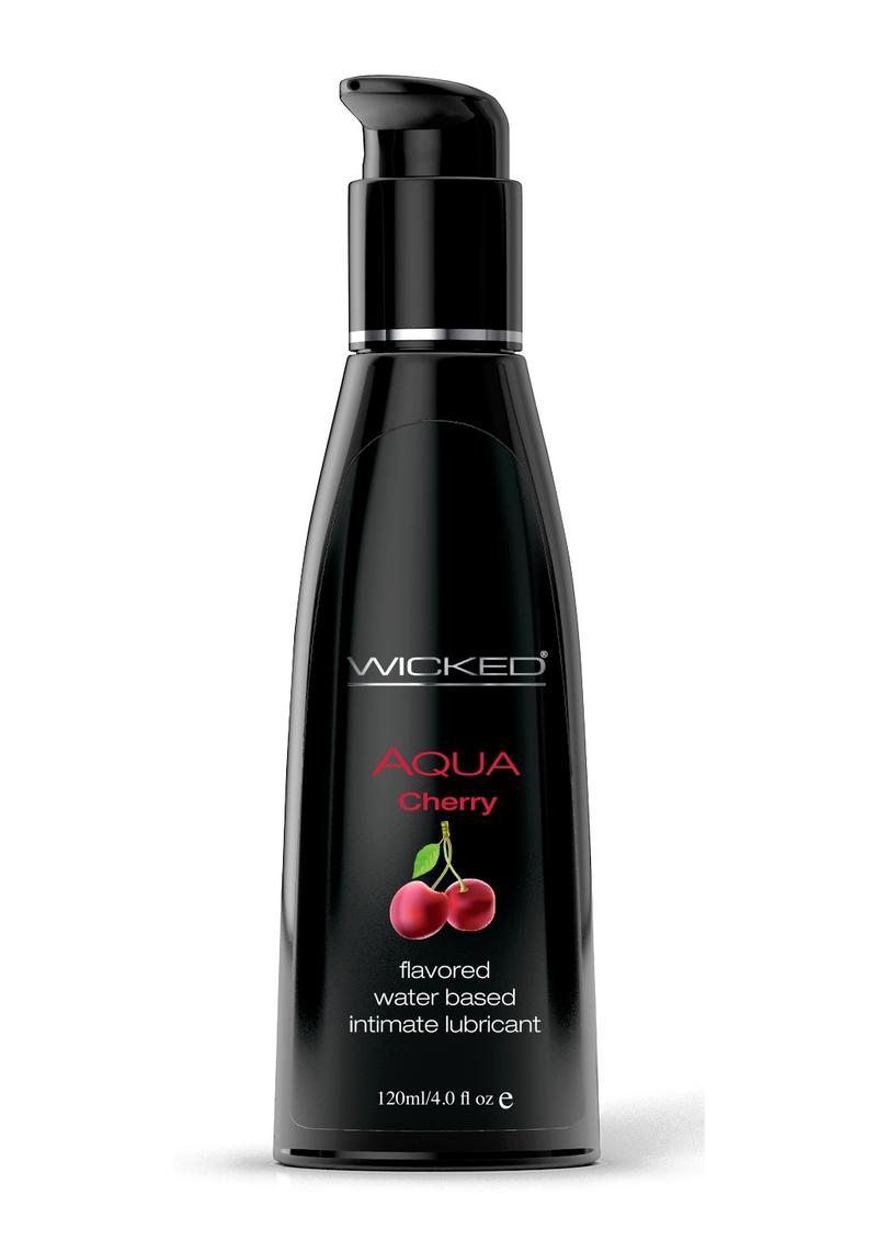 Wicked Aqua Cherry Lube 4oz Water Based