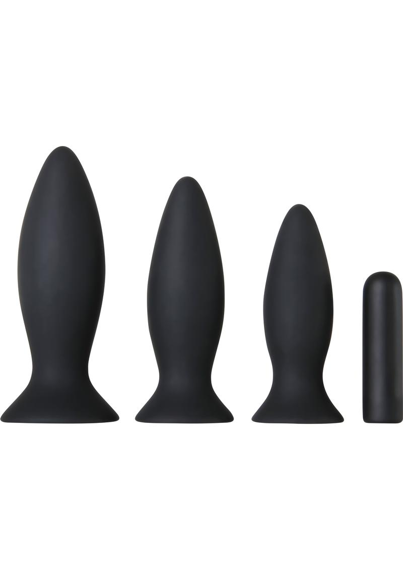 Adam and Eve Recharge Vibrating Anal Trainer Kit Multispeed  Silicone Waterproof