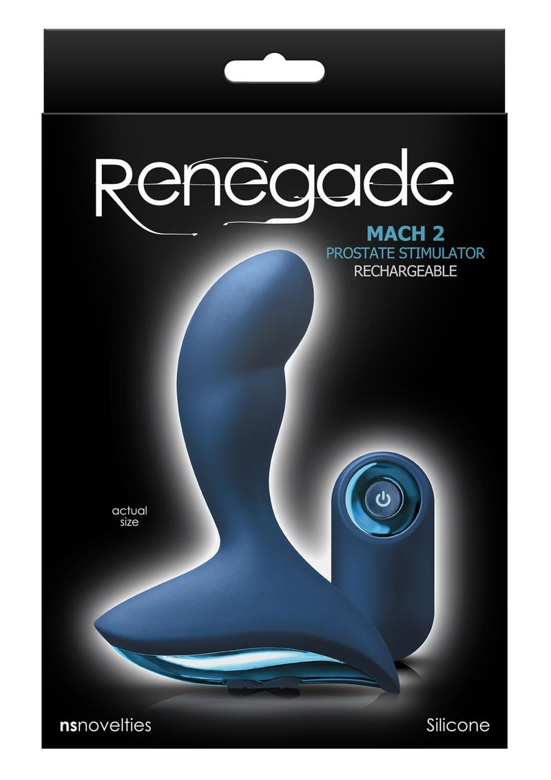 Renegade Mach Ii Blue Anal Prostate Stimulator Remote Control Silicone Rechargeable Shower Proof