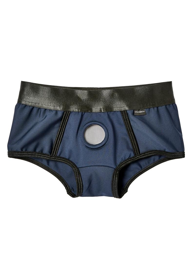 EM. EX. Active Harness Wear Fit Harness Boy Shorts Blue Small-23-25