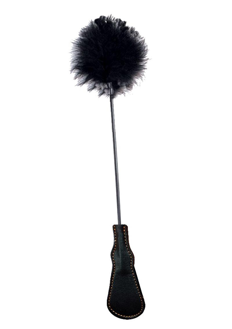 Orange is the New Black Riding Crop and Feather Tickler Black