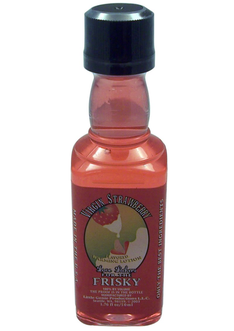 Love Lickers Warming Lotion Virgin Strawberry 1.76 Ounce