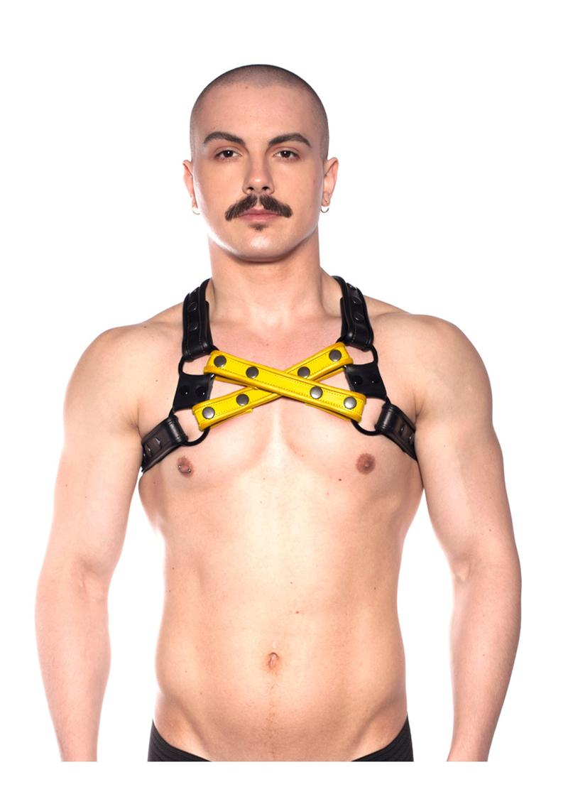 Prowler Red Cross Harness Blk/yell S/m