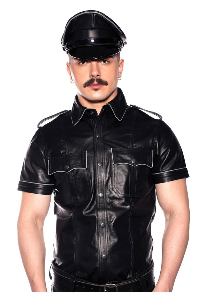 Prowler Red Police Shirt Pipe Blk/gry Md