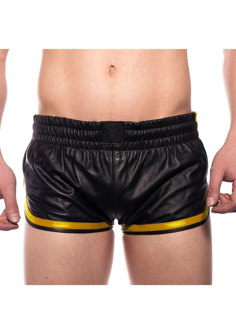 Prowler Red Leather Sport Shorts Yell Md