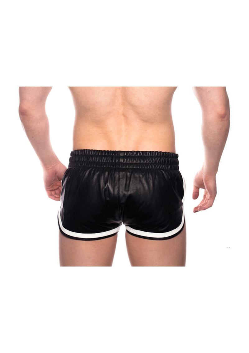 Prowler Red Leather Sport Shorts Whtxxxl