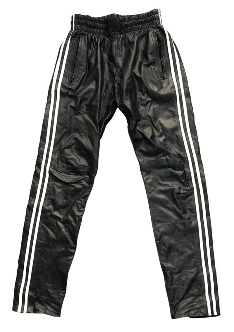 Prowler Red Leather Joggers Wht Md