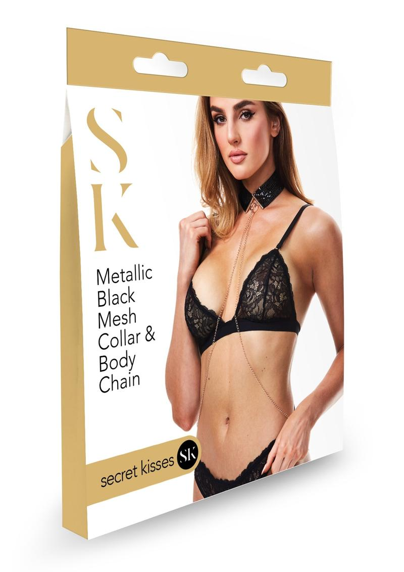 Sk Metallic Mesh Collar and Body Chain