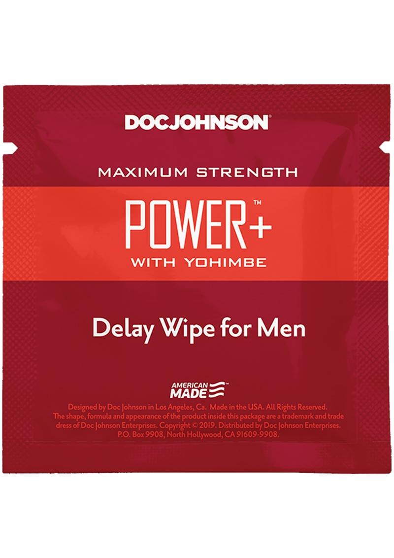 Power W/yohimbe Delay Wipe 10ct Pk