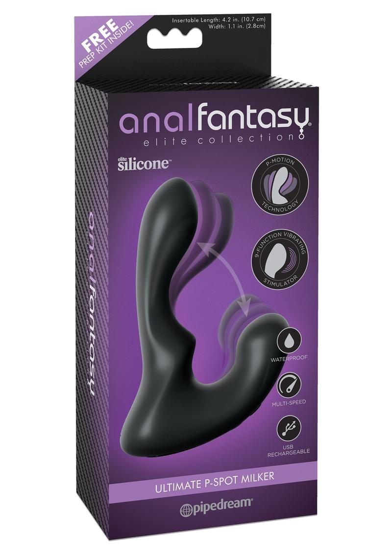 Anal Fantasy Elite Silicone Rechargeable Ultimate P Spot Milker Waterproof Black