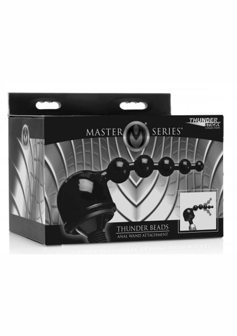 Master Series Thunder Beads Anal Wand Attachment 8 Inch
